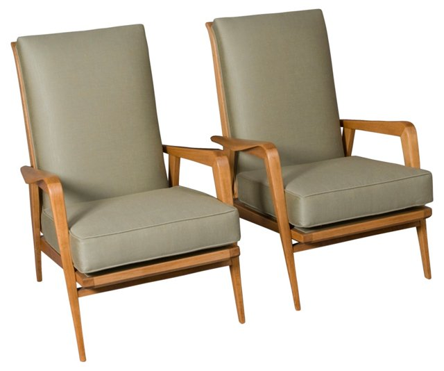 1930s Armchairs by Henri-Martin, Pair