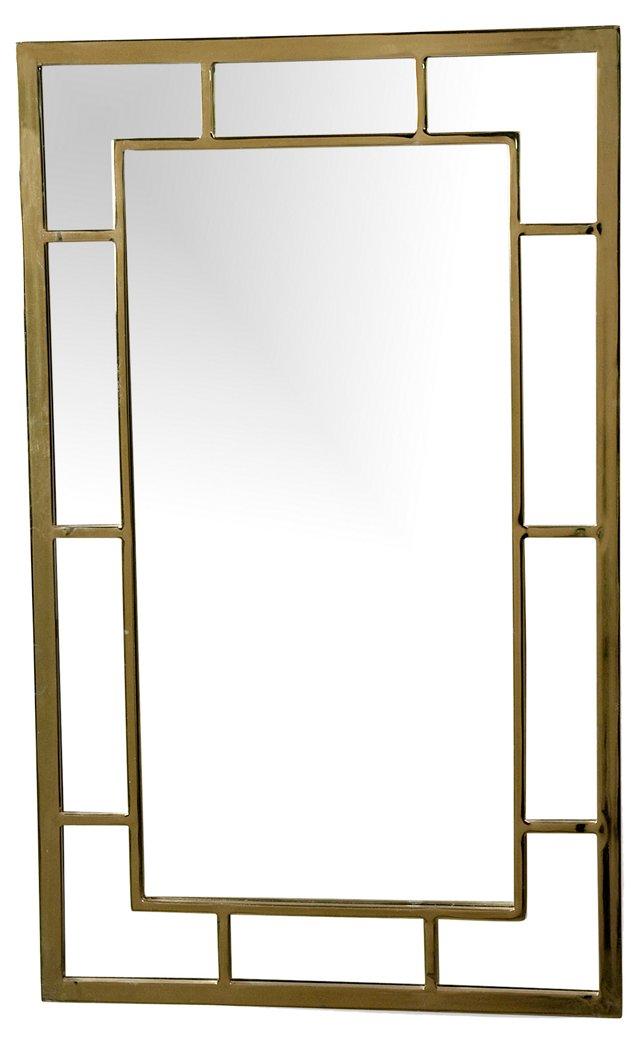 Mod Brass Frame Mirror