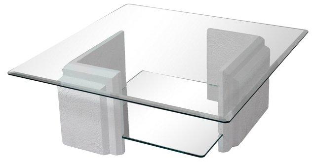 Stone &  Glass Coffee Table