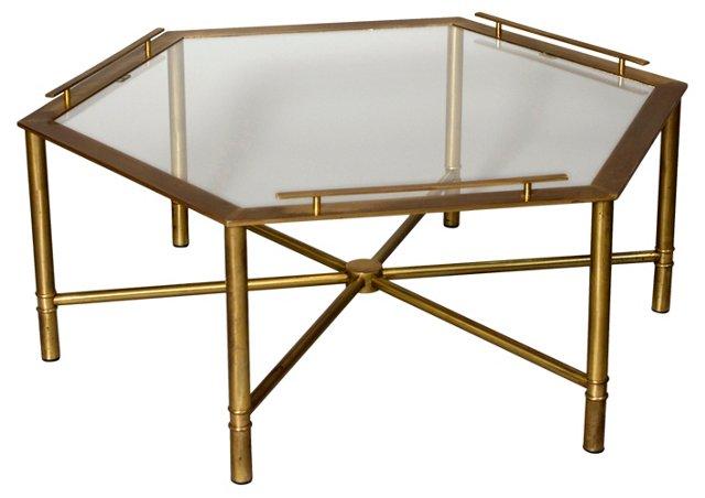 Bronze Hexagonal Coffee Table