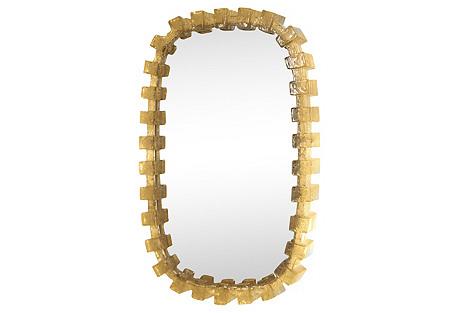Resin Sawtooth Frame Illuminated Mirror