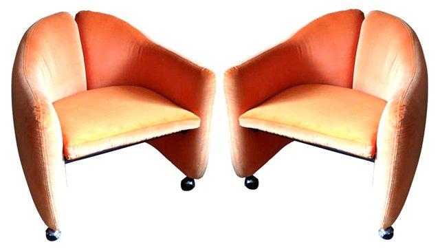 1960s E. Gerli Chairs, Pair