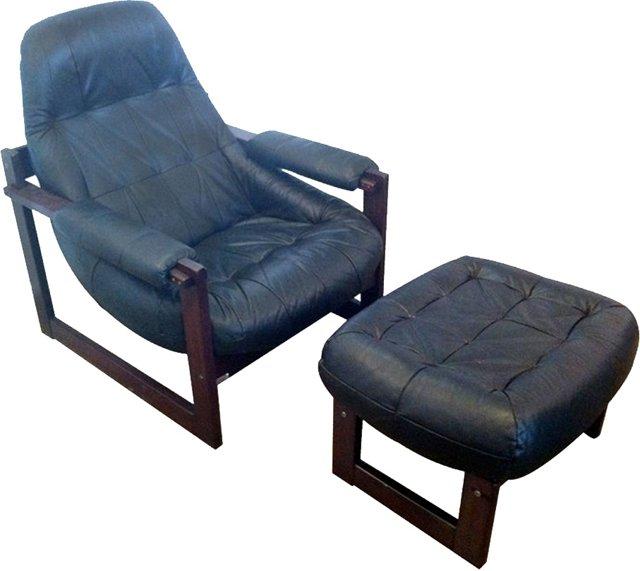 Benjamin Lafer Lounge Chair & Ottoman