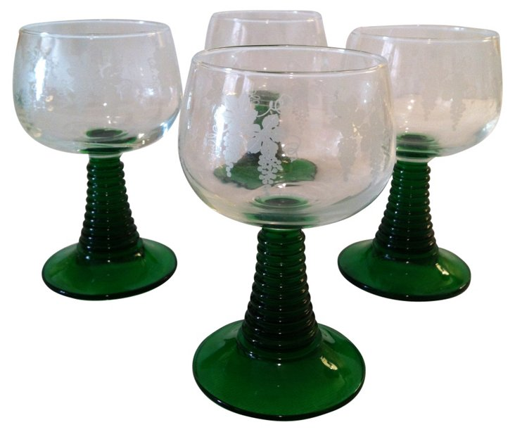 French Goblets, S/4