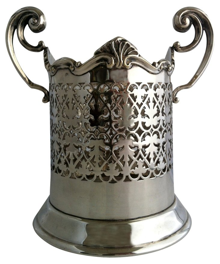 English Silverplate  Wine  Cooler