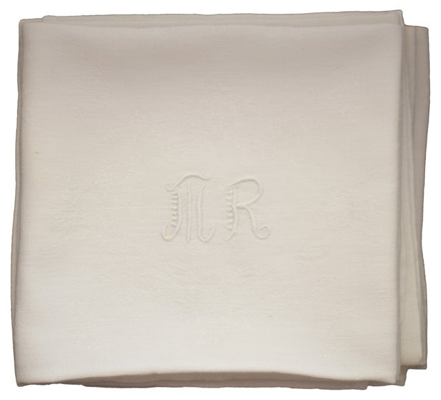 MR Monogram Napkins,  S/12
