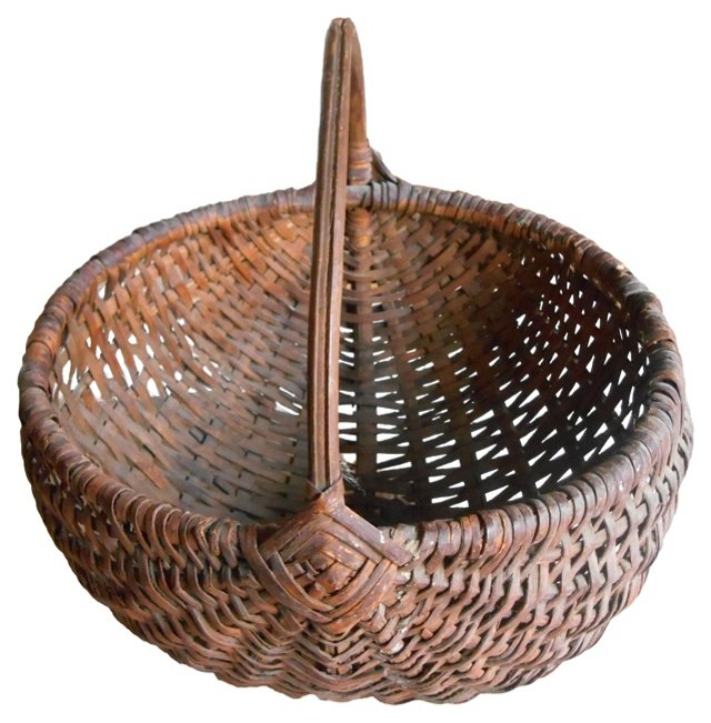 Oak Basket w/Handle