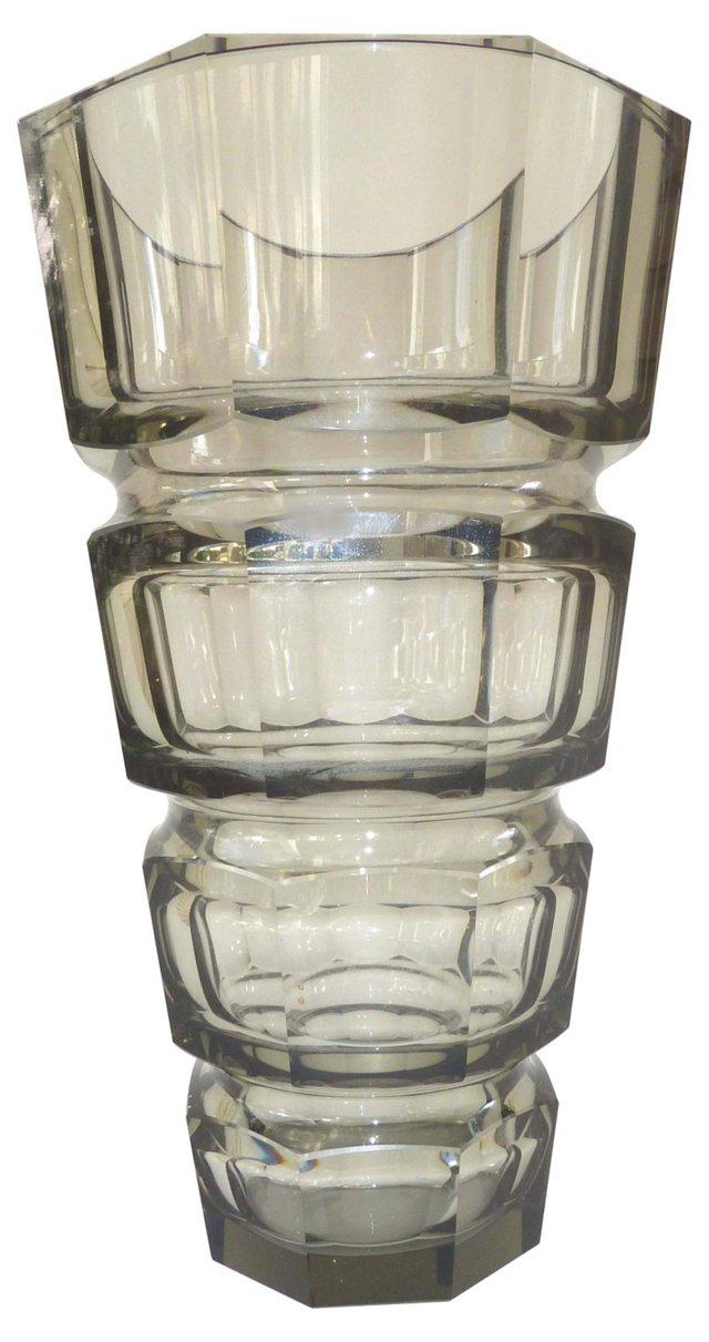 Moser Hoffmann Czech Crystal Vase