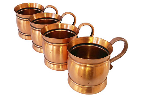 Moscow Mule Mugs, S/4