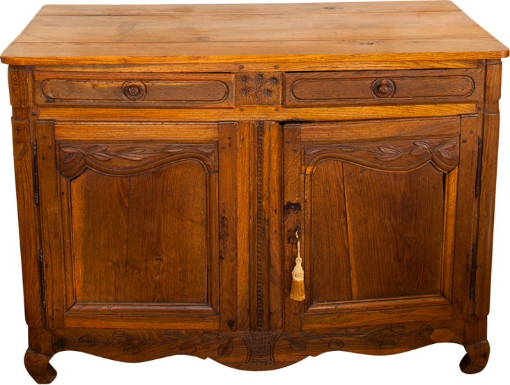 19th-C. French Carved Oak Buffet