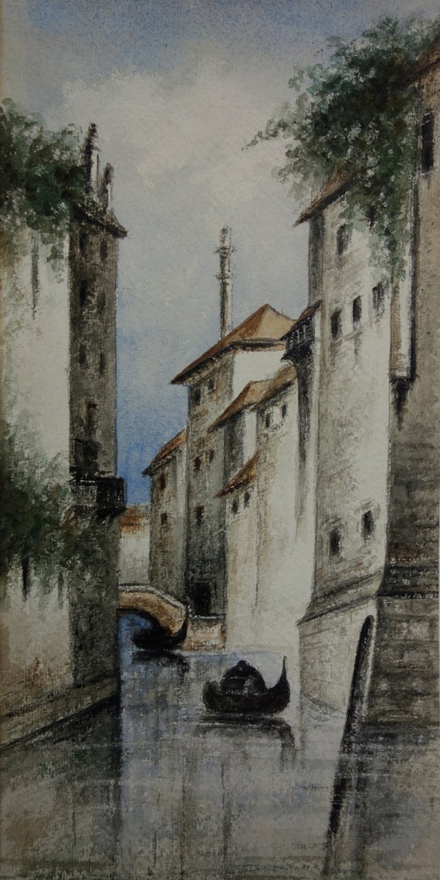 Venetian Watercolor Scene