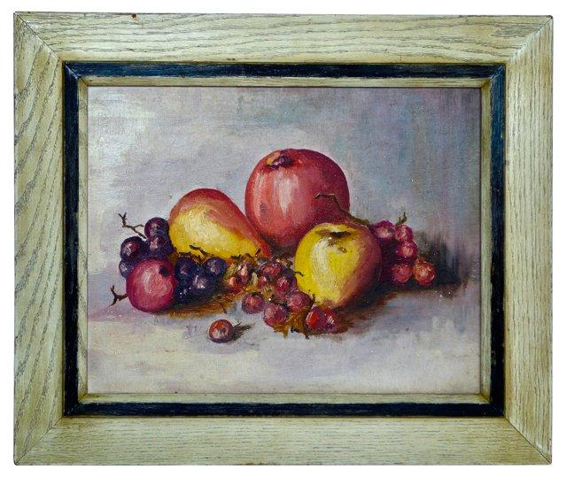 Still Life w/ Grapes & Apples