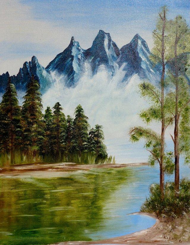 Lake w/ Majestic Mountains