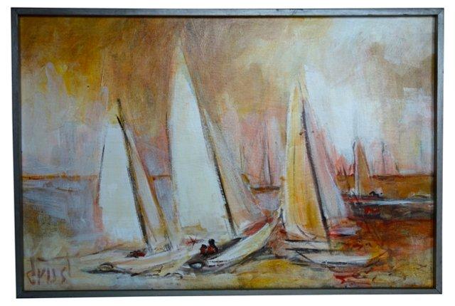 Orange & Golden Sailing Day