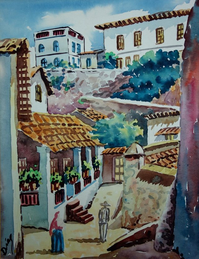 Colorful Spanish Town