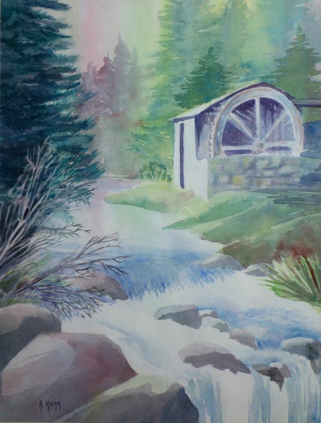 Water Wheel By A. Kerr