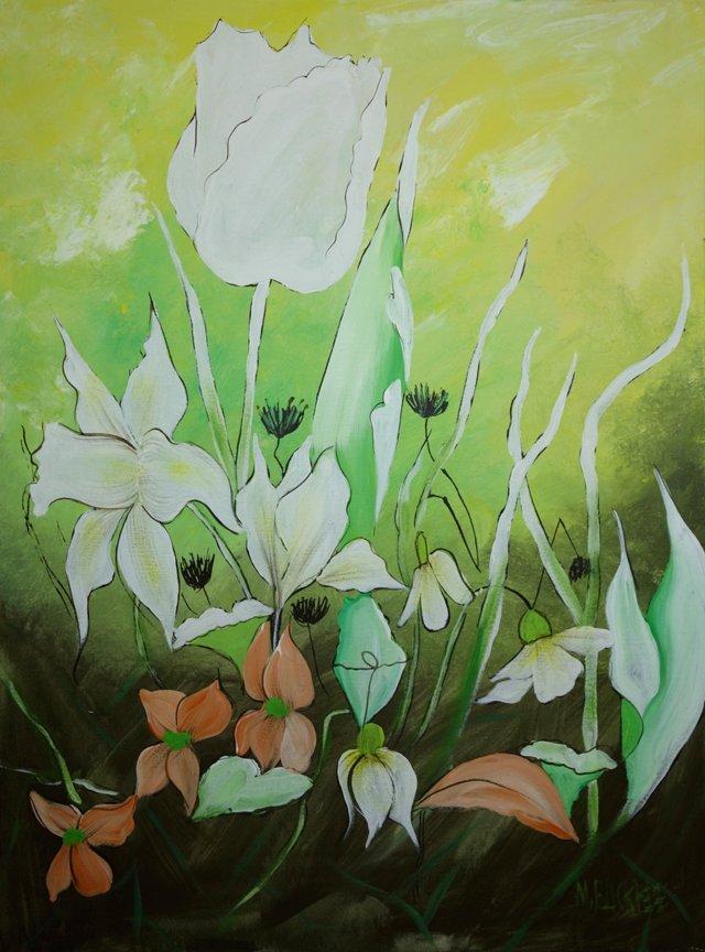 Midcentury Floral by Marlene Buckbee