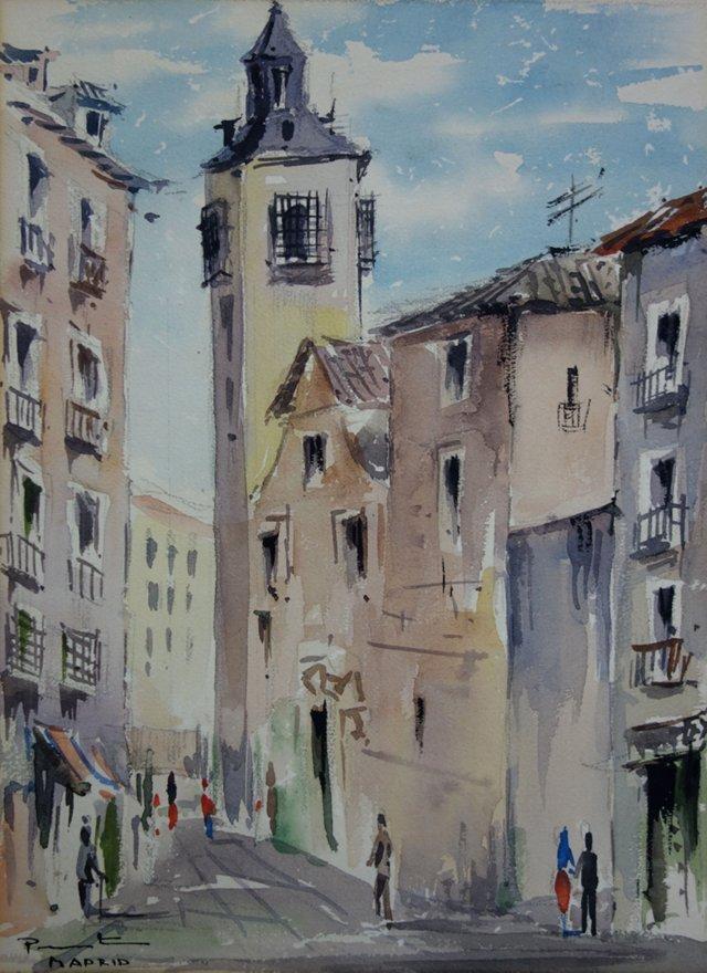 Street Scene in   Madrid