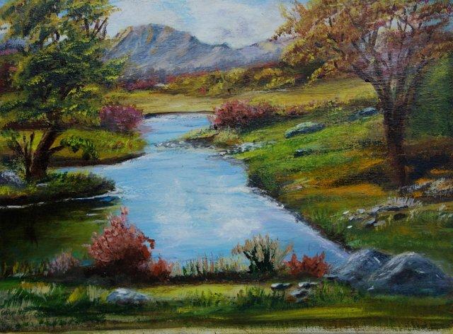 Pond w/ a Mountain View