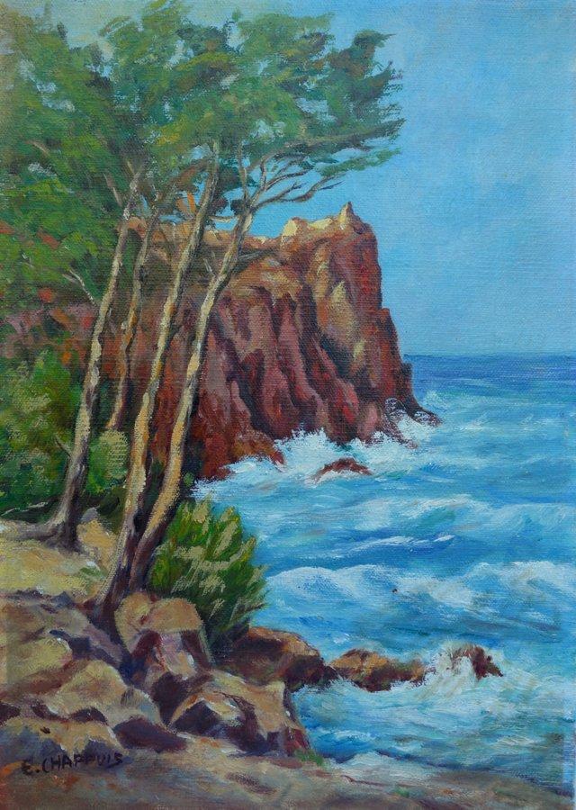 Beach Waves by E. Chappuis