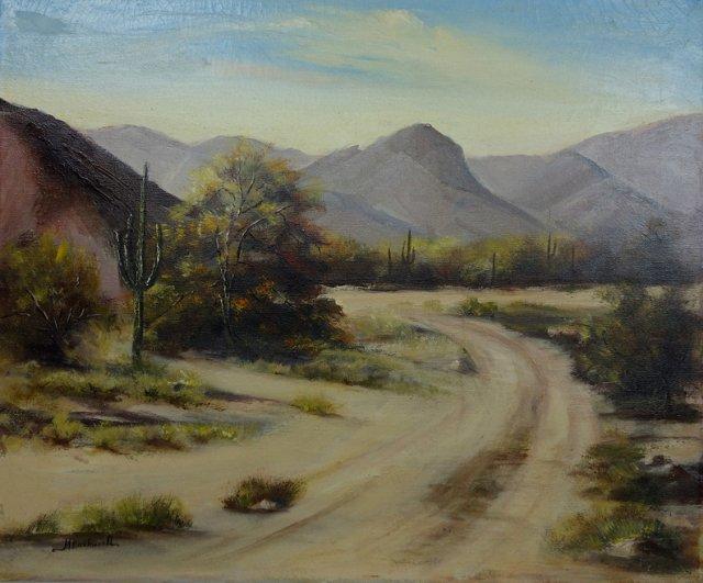 Curved Desert Road