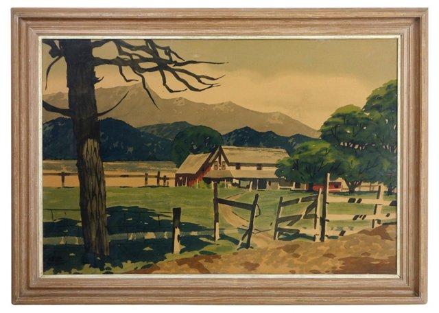 Ranch Landscape by James M. Phillips