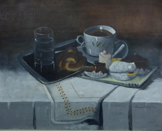 Coffee & Pastry Still Life