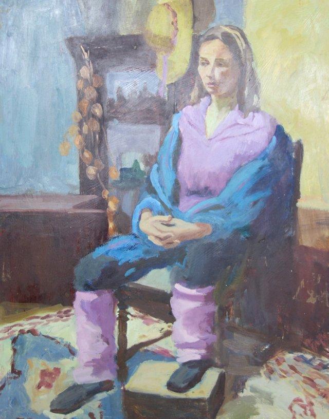Portrait of Woman in Purple