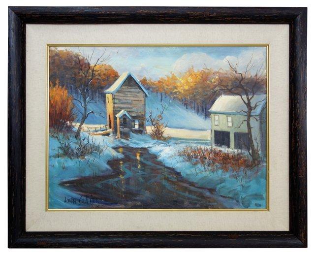 Winter Sunset by John Collier
