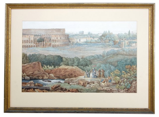 Italian Watercolor Scene