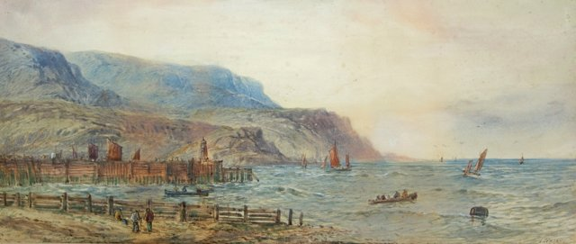 19th-C. Maritime Scene by Lennard Lewis