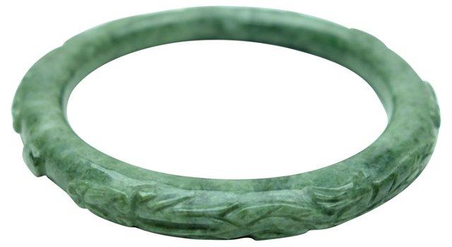 Deep Green Jade   Bracelet