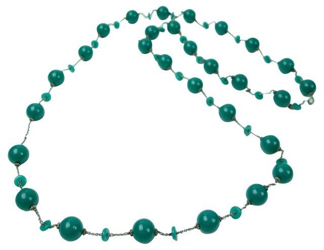 Green Onyx Sautoir Necklace