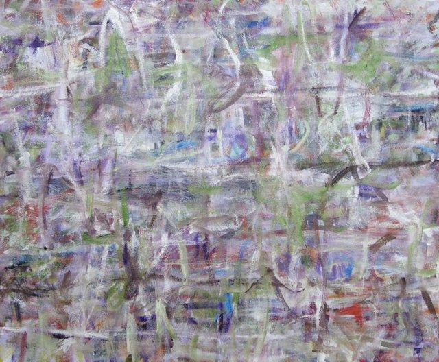 Purple Abstract by Barbara Winkler