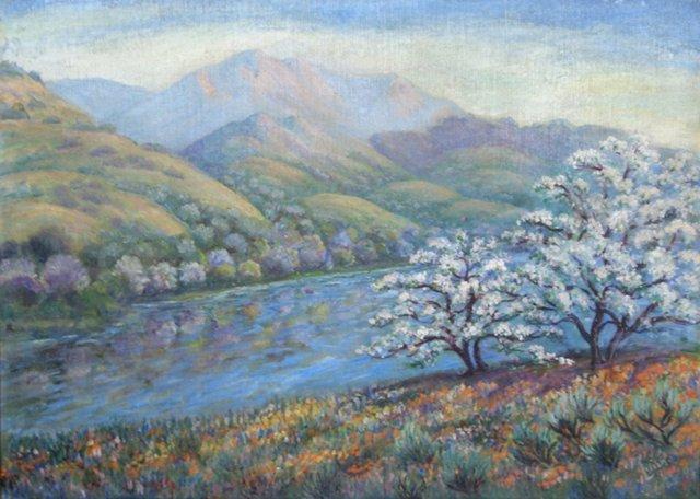 Springtime Lavender Landscape