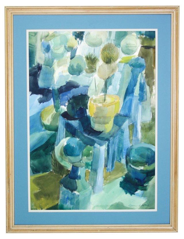 Blue Abstract by Glenn Capilo