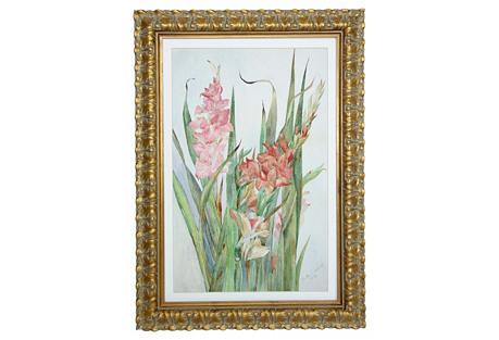 Gladiolus by Bertha Scofield, C. 1895