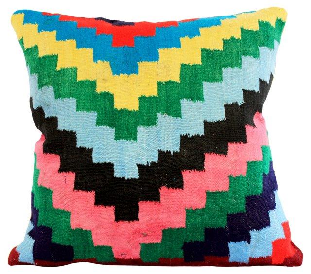 Bright ZigZag Kilim Pillow