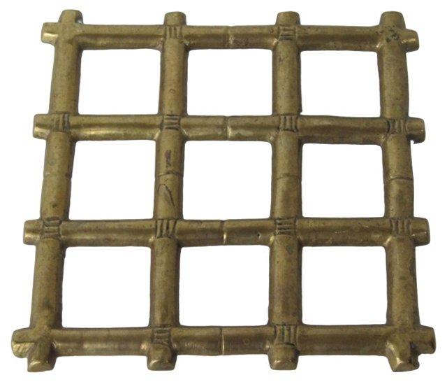 Brass Bamboo-Style Trivet