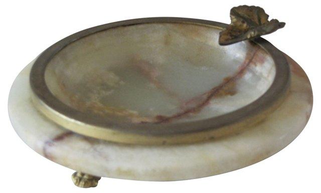 Stone & Brass Ashtray
