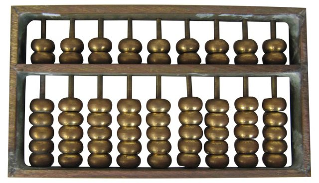 Brass Abacus Paperweight