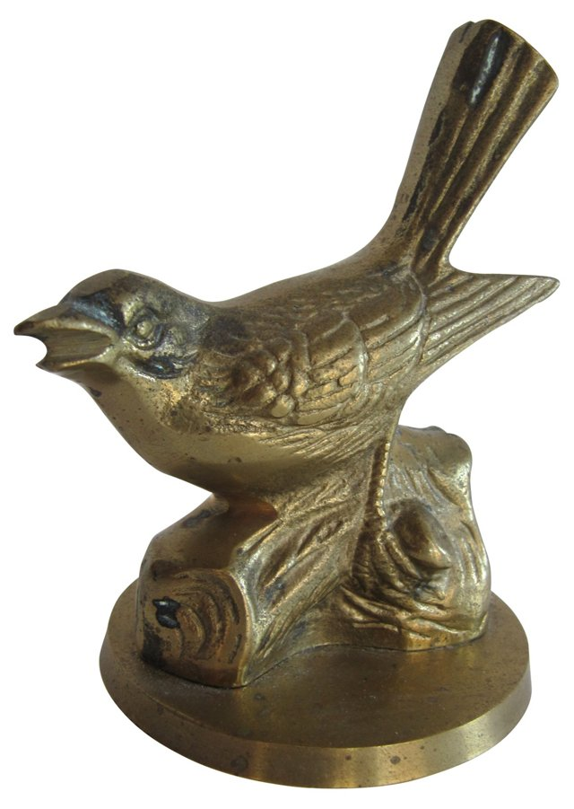 Sitting Brass Bird