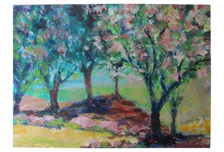 Impressionist Spring Landscape