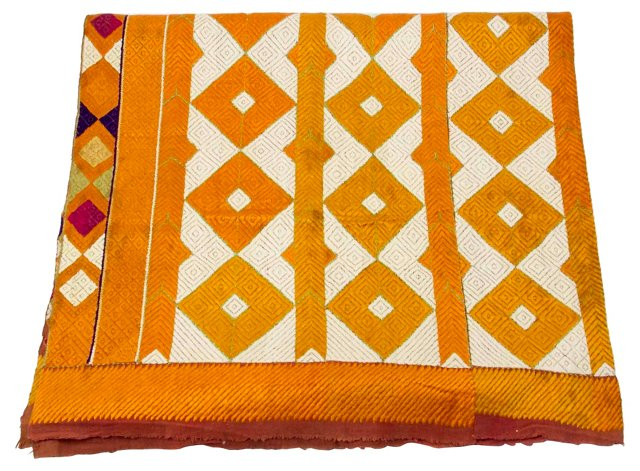 Silk Phulkari Throw