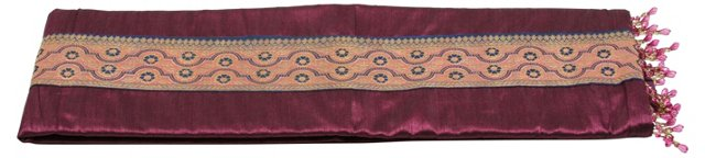 Plum Silk Table Runner
