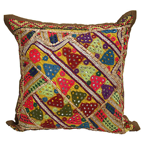 Ethnic Embroidered Pillow