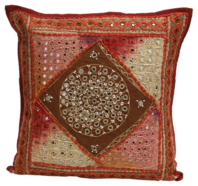 Coral Mica Jaipur Pillow