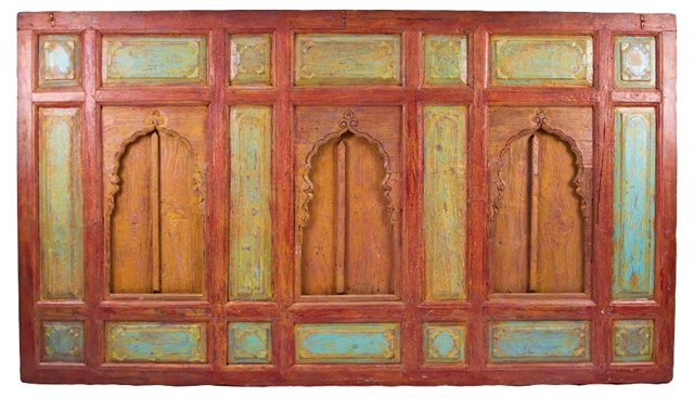 19th-C. Mughal-Style Wall Panel