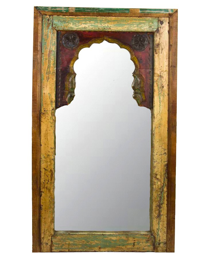 Antique Moorish Arched Mirror