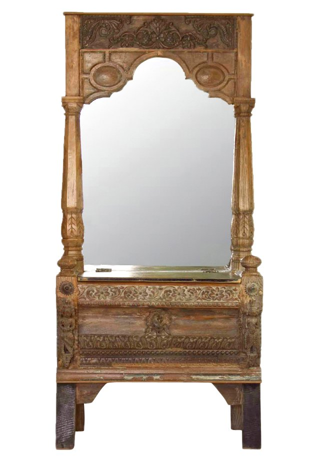 Architectural Fragment Mirrored Console